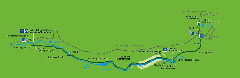 Lageplan   Mendlingtal Göstling-Hochkar